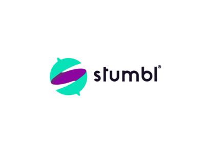 Stmbl s globe logo app agency tour guide travel tourism tourist stumble