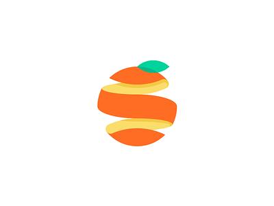 Citrus peel fun reward orange citrus logo