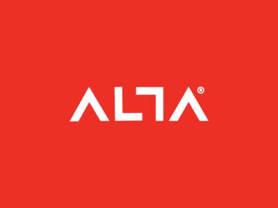 Al?a geometric high alta font lettering logo