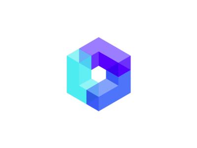 L cubed triple l icon logo cubed