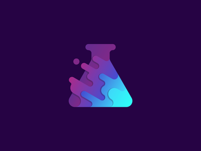 ChaosLab colorful chaos paint lab icon logo