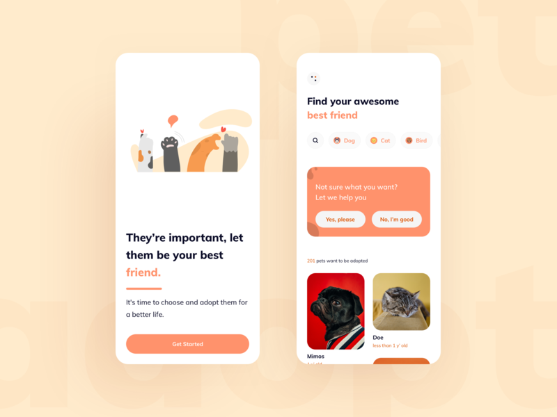 They Need Your Love home onboarding design clean ui app mobile