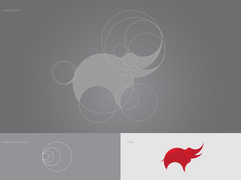 Golden Ratio Logo Practice typography modern creative  design elephant logo company clean vector golden ratio logo design brand logo