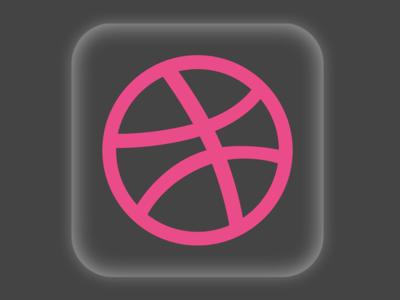 Flat Dribbble App Icon