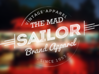 The Mad Sailor Vintage Typography