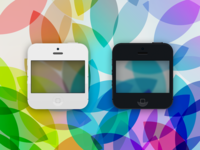 Flat iPhone 5 Themed Icons