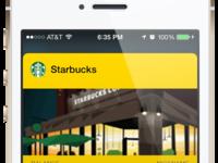 Starbucks Gold Passbook Mockup
