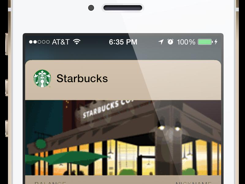 Starbucks Champagne Passbook Mockup ios 7 passbook pass rose gold starbucks