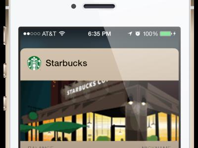 Starbucks Champagne Passbook Mockup