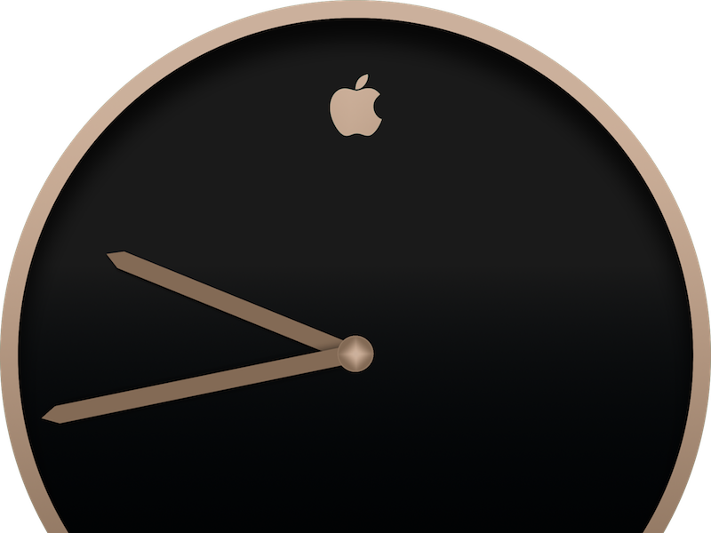 Apple + Movado Champagne Watch WIP typography retro old watch gold minimalist chronograph hands