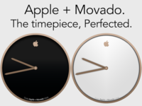 Apple + Movado Champagne Watch Advertisement