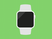 Flat Apple Watch Icon