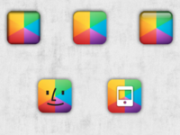 5 @myColorscreen iPhone Icons