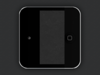 Black iPod Touch iOS Icon