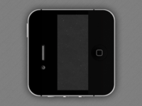 Black iPhone iOS Icon