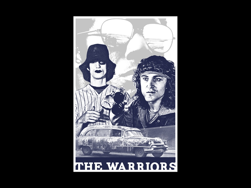 Warriors 1/1 poster art poster texture layout