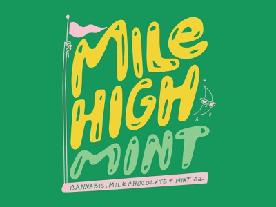 Mile High branding vector cannabis design cannabis packaging hand lettering typography illustration hand drawn illustration hand drawn typography