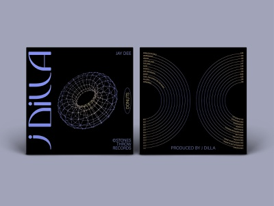 Reimagined JDilla Record study type design typogaphy layout packaging record