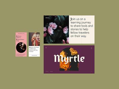 Myrtle web tiles texture color icon ui web design layout branding logo design study typography type