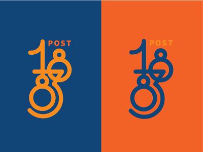 Post 1883 art deco typography type logo vector