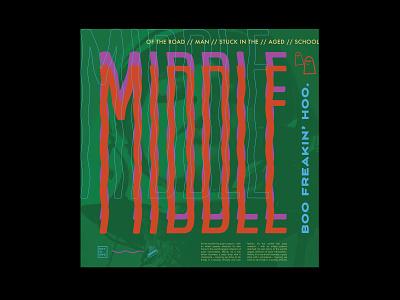 Middle art poster study hotdog design typography type vector illustration
