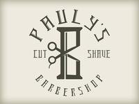 Pauly's Barbershop Logo