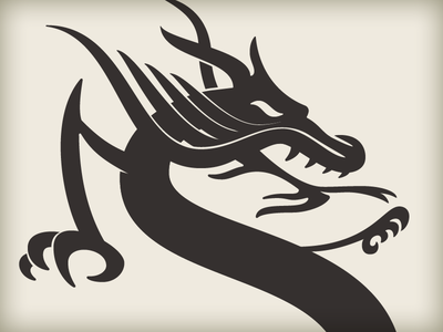 Dragon Logo custom type wip dragon animal monogram vector