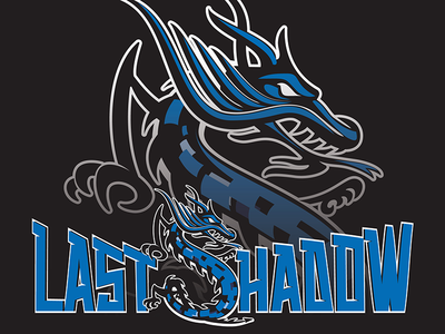 Last Shadow custom type logo sports fishing hunting vector monogram dragon animal