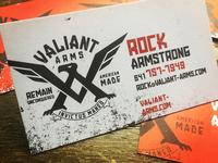 Valiant Arms Business Card