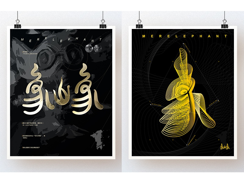 Poster outdoors fish elephant illustration typography poster typeface