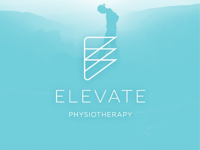Elevate Physiotherapy branding physiotherapy logo