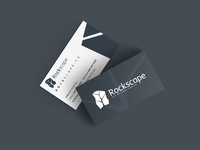 Rockscape business card design