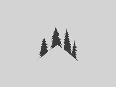Log home building logo design branding logo