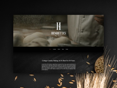 Bakery website concept website bidesign webdesign