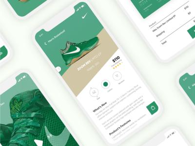 Shoe Sales App - Nike iphone x shoe app simple green nike app shoe