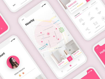 UI Makost - Guest House Finder boarding house rest room room check guest house iphonex iphone pink simple kosan