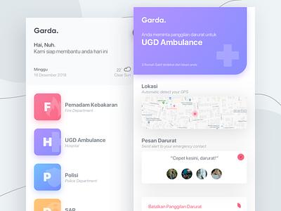 #Exploration UI Emergency App - Garda exploration ambulance emergency sketch ui iphone design appui purple app simple