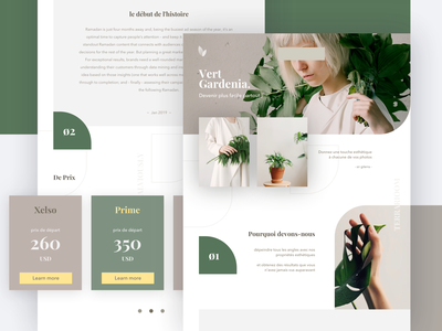 Exploration Landing Page price simple green web ui plant exploration landing page garden