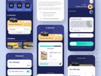 Exploration | Car Services App trucks blue workshop garage landingpage maintenance service car app design exploration simple