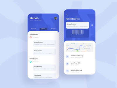 Exploration | Delivery App for Courier simple app delivery maps courier kurir exploration blue