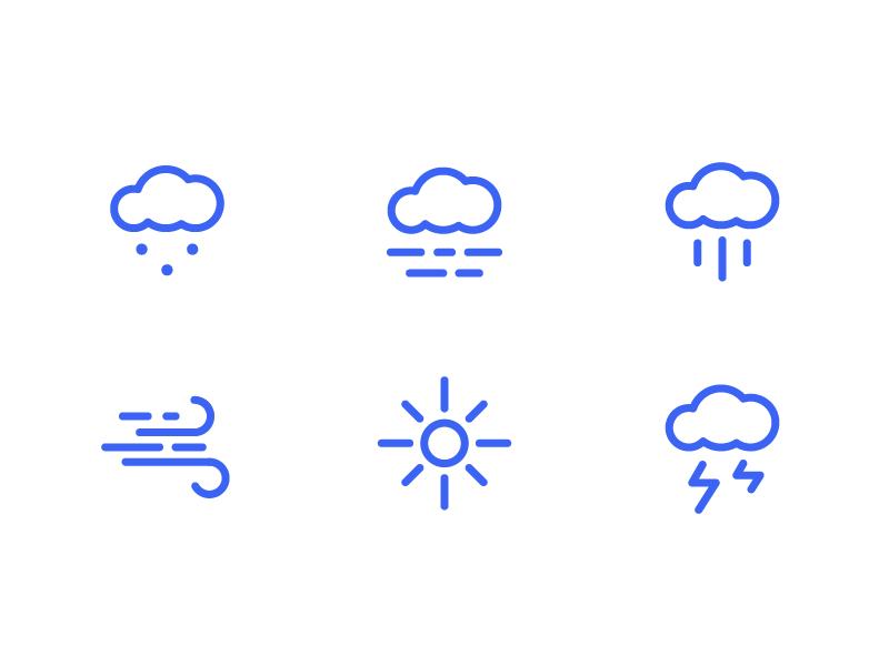 Weather icons 2 snow thunder wind sun rain fog cloud clouds weather app weather