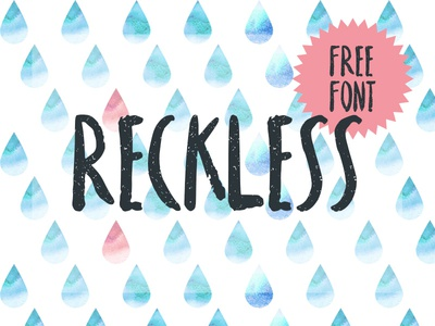 Reckless - Free Brush Font     brush font typeface script free font