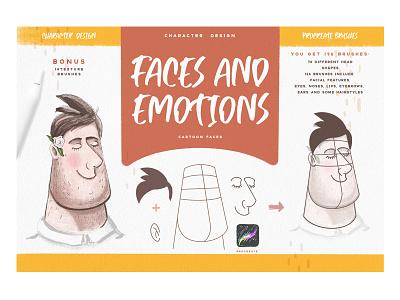 Faces & Emotions Procreate Brush procreate drawing ipad cartoon characters character design