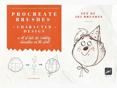 Character Design Brush for Procreate procreate brushes ipad cartoon characters character design