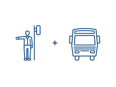 Public Transport Icons icon design bus transport