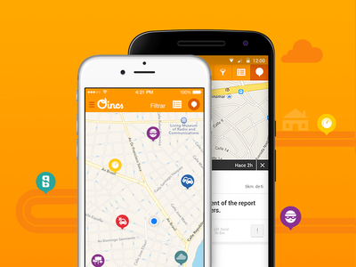 Oincs mobile app safe cities app mobile map oincs