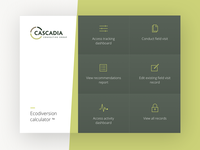 Cascadia - Eco-Diversion Calculator app