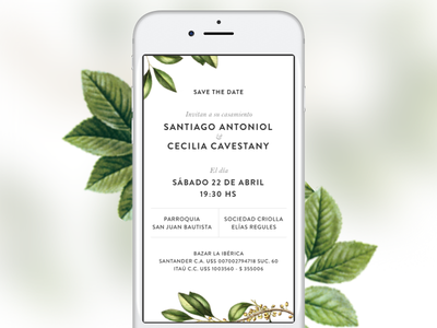 Save The Date typograhpy phone save the date