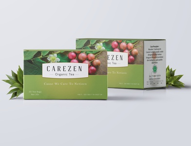 Carezen Beauty Packaging Project profile product vector print design illustration packaging product design
