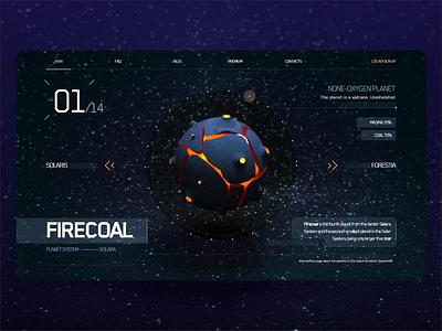 Space-themed Game Library Web App website dailyuichallenge app minimal space 30daychallenge web sci-fi ux ui design